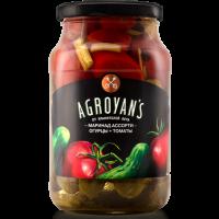 АССОРТИ маринованные огурцы и томаты 1л. ARGOYAN'S
