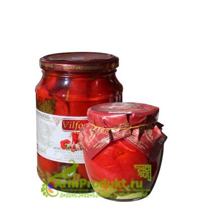 Перец красный маринованный 705г./540г. Vilfood