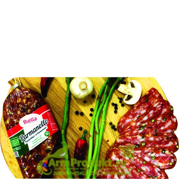 """Сырокопченая колбаса Парманелло """"Биэлла"""" в вак/уп 300 гр."""