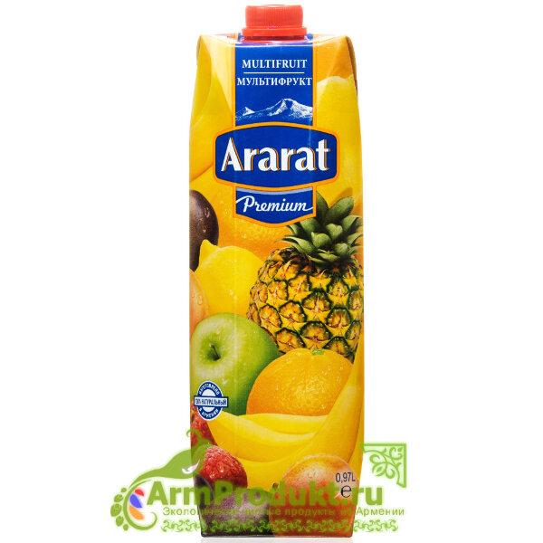 """Мультифруктовый Нектар """"Ararat Premium"""" 0.97л. Тпа"""