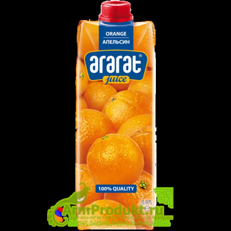 """Сок Апельсиновый """"Ararat Premium"""" 0.97л. тпа"""