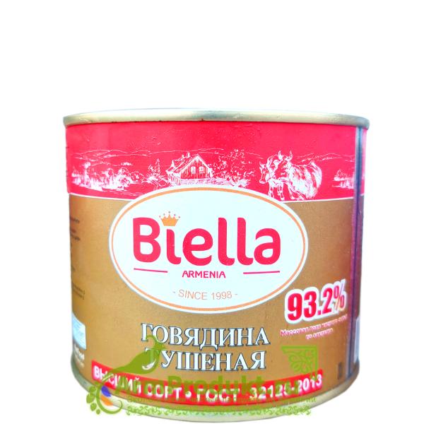 """Говядина тушеная """"Биэлла"""" высший сорт 525г"""