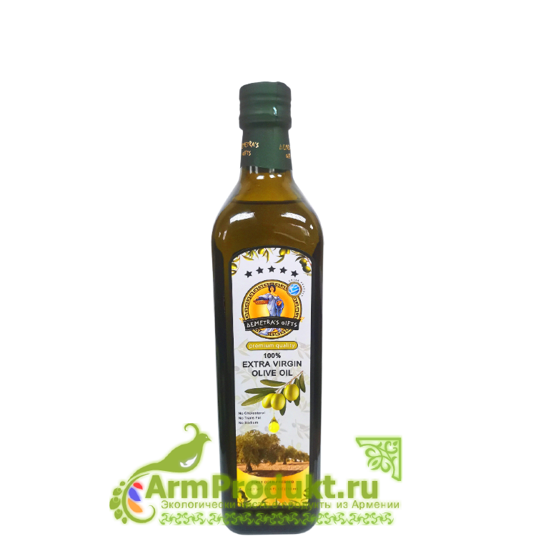 """Оливковое масло Экстра Вирджин кислотность 0,2% - 750мл. """"Дары Деметры"""""""
