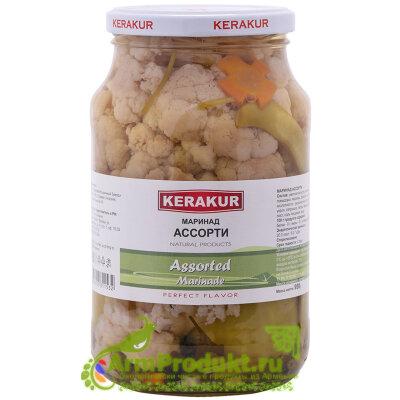 АССОРТИ маринад с цветной капустой 1л. KERAKUR