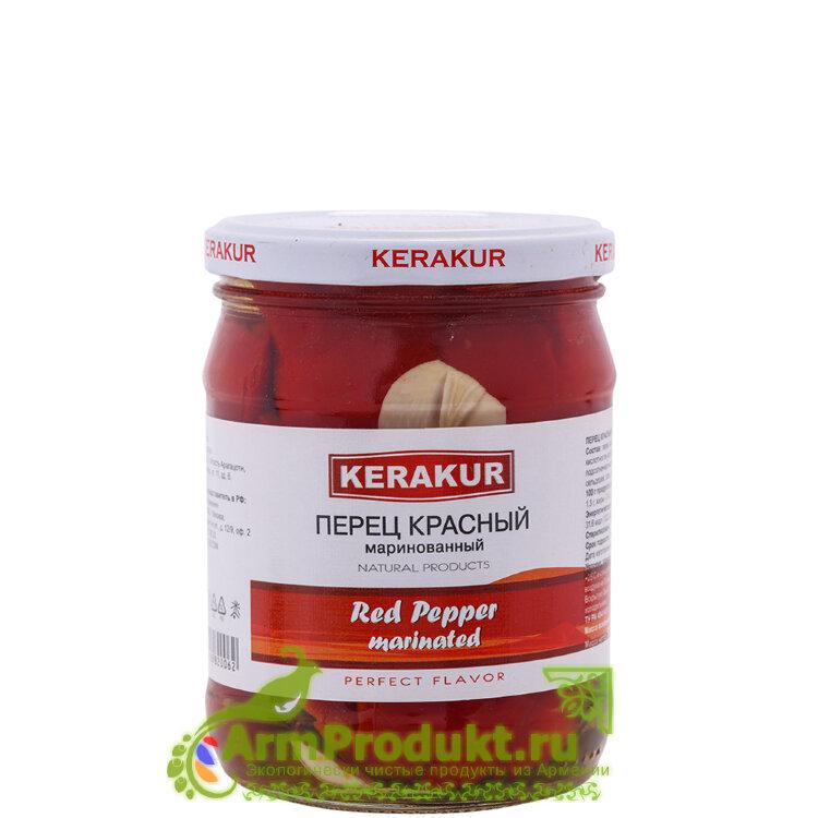 Маринованный красный перец 500гр. KERAKUR