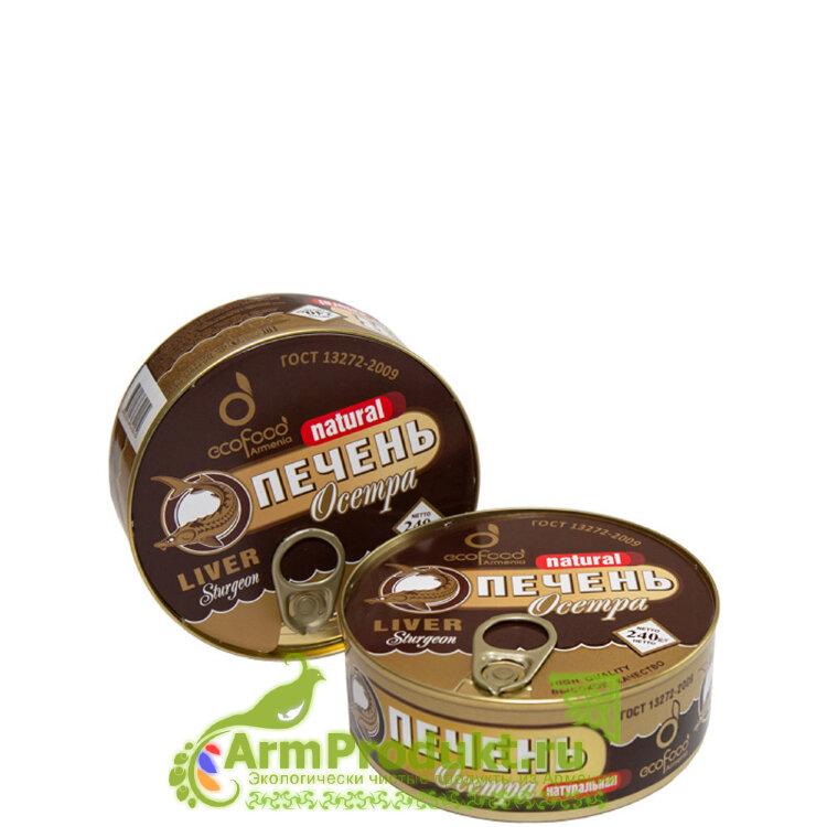 Печень Осетра натуральная 240гр. EcoFood